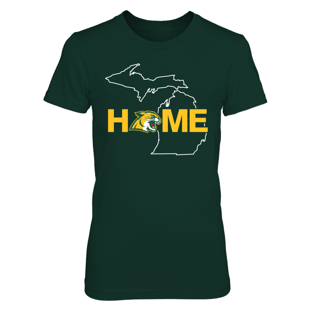 Northern Michigan Wildcats -  Home In State Outline Front picture