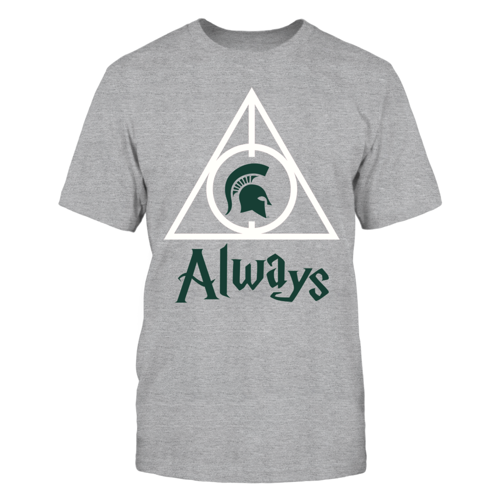 Michigan State Spartans - Deathly Hallows - Grey Shirt Front picture