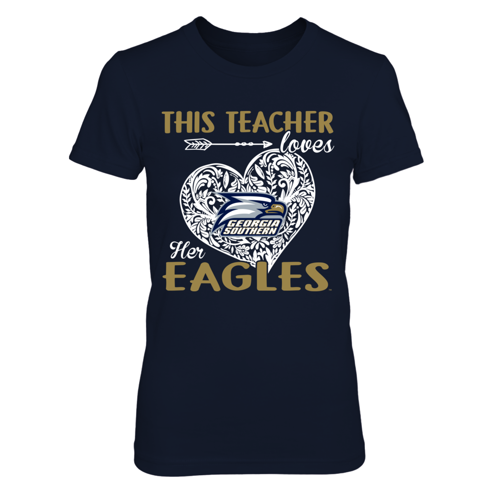 Georgia Southern Eagles - This Teacher Loves Her Team - Pattern Heart Front picture