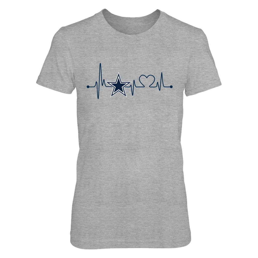 Dallas Cowboys - Heart Beat - Grey Shirt Front picture