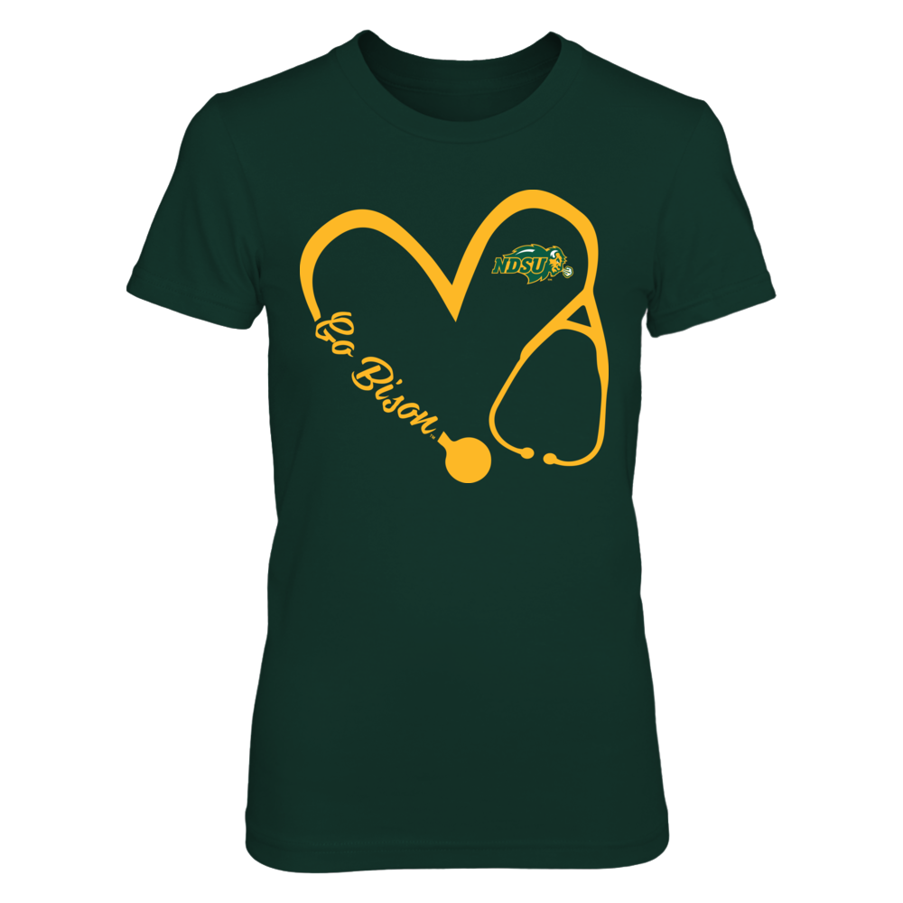 North Dakota State Bison -  Heart 3/4 - Nurse Front picture