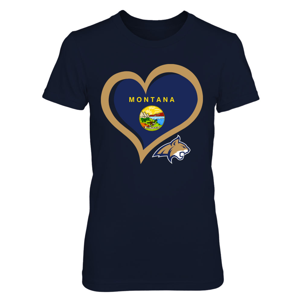 Montana State Bobcats - Heart State Flag Front picture