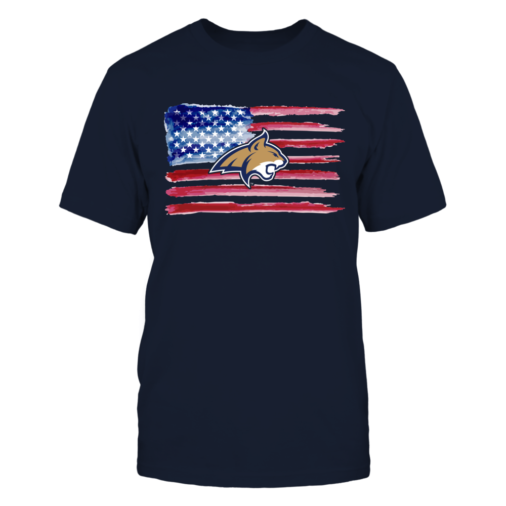 Montana State Bobcats - Color Drop Nation Flag Front picture