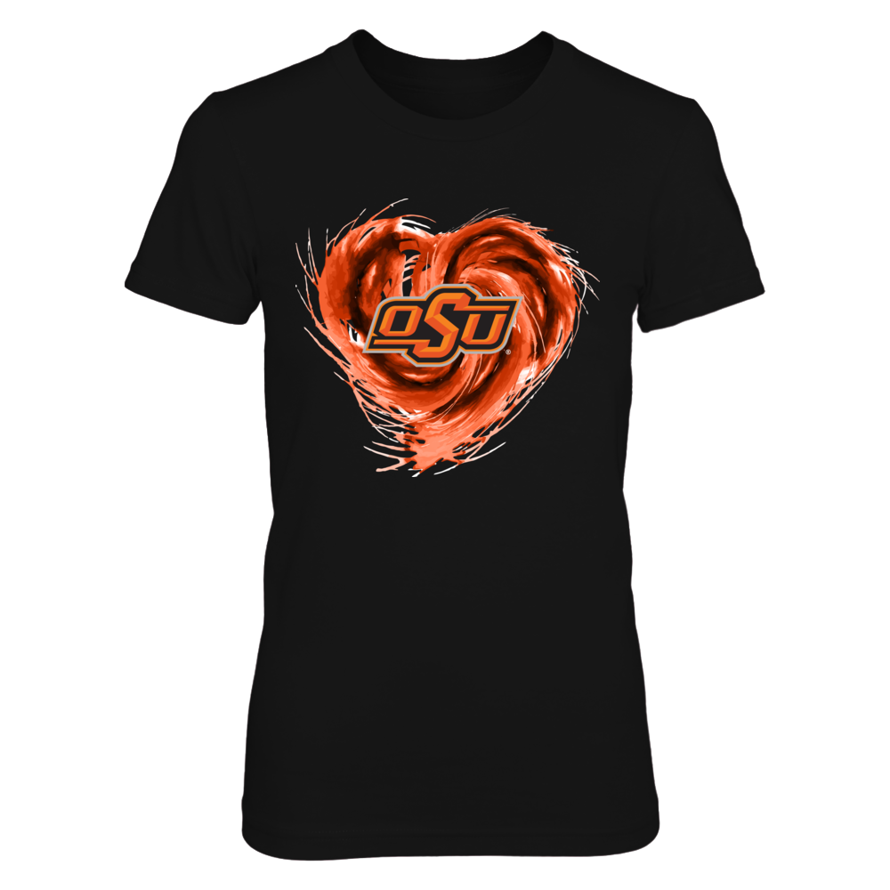 Oklahoma State Cowboys - Color Drop Hurricane Heart Front picture