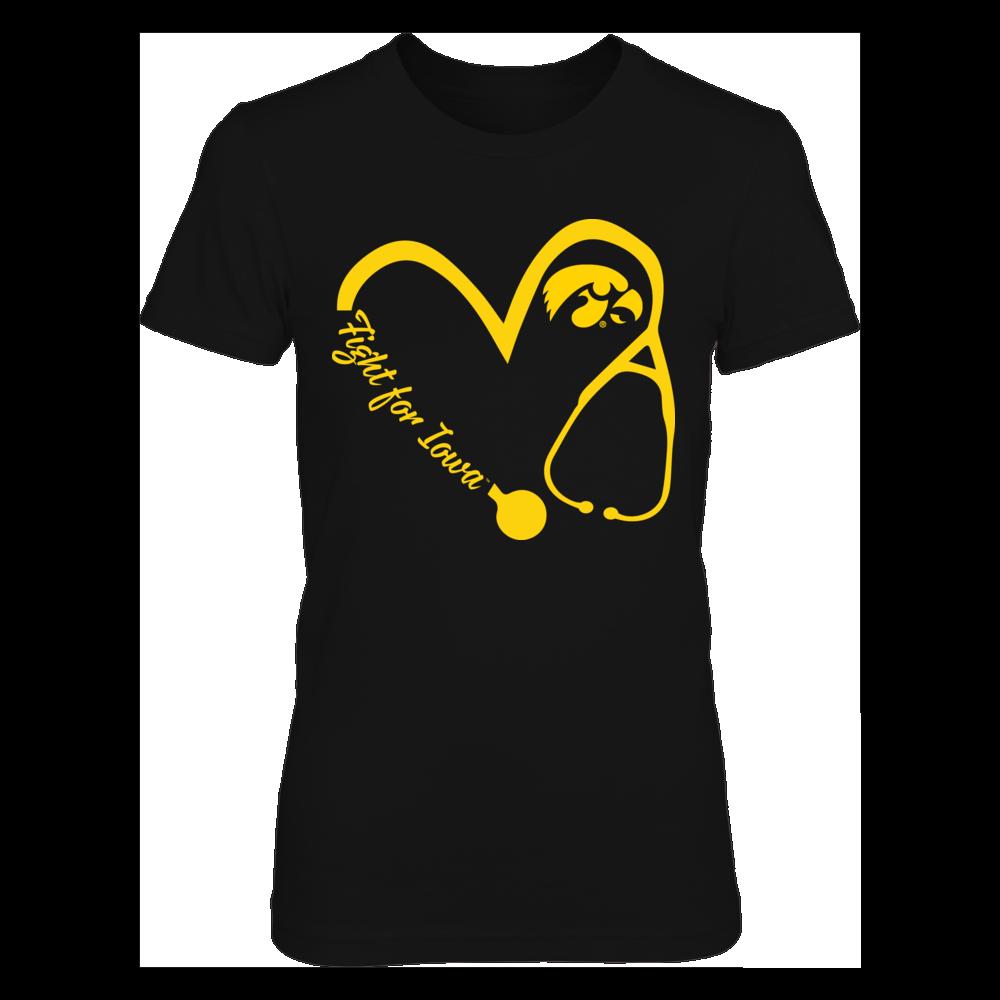 Iowa Hawkeyes - Heart 3/4 - Nurse - New slogan Front picture