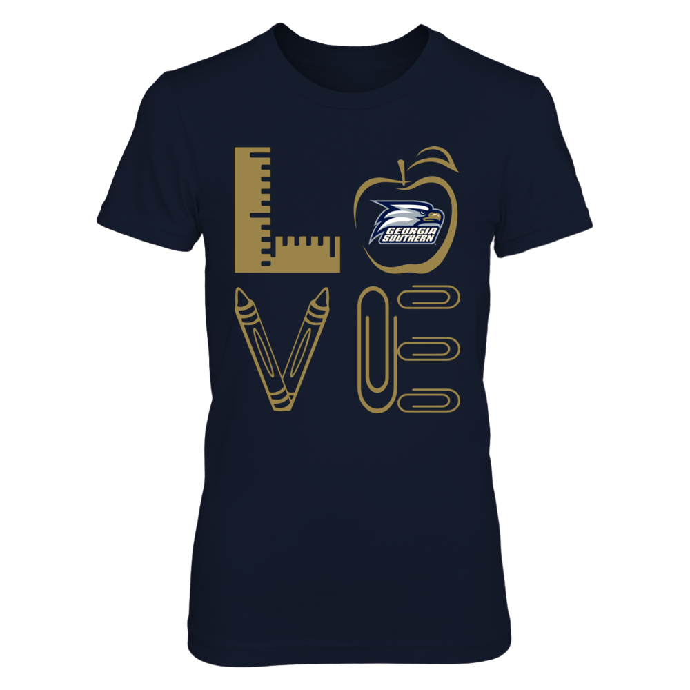 Georgia Southern Eagles - Stacked Love - Teacher Things - Relaunch - IF-IC13-DS33 Front picture