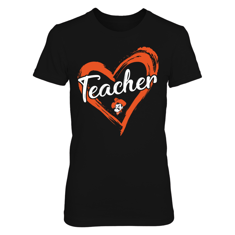 Oklahoma State Cowboys - Drawing Heart - Teacher Front picture