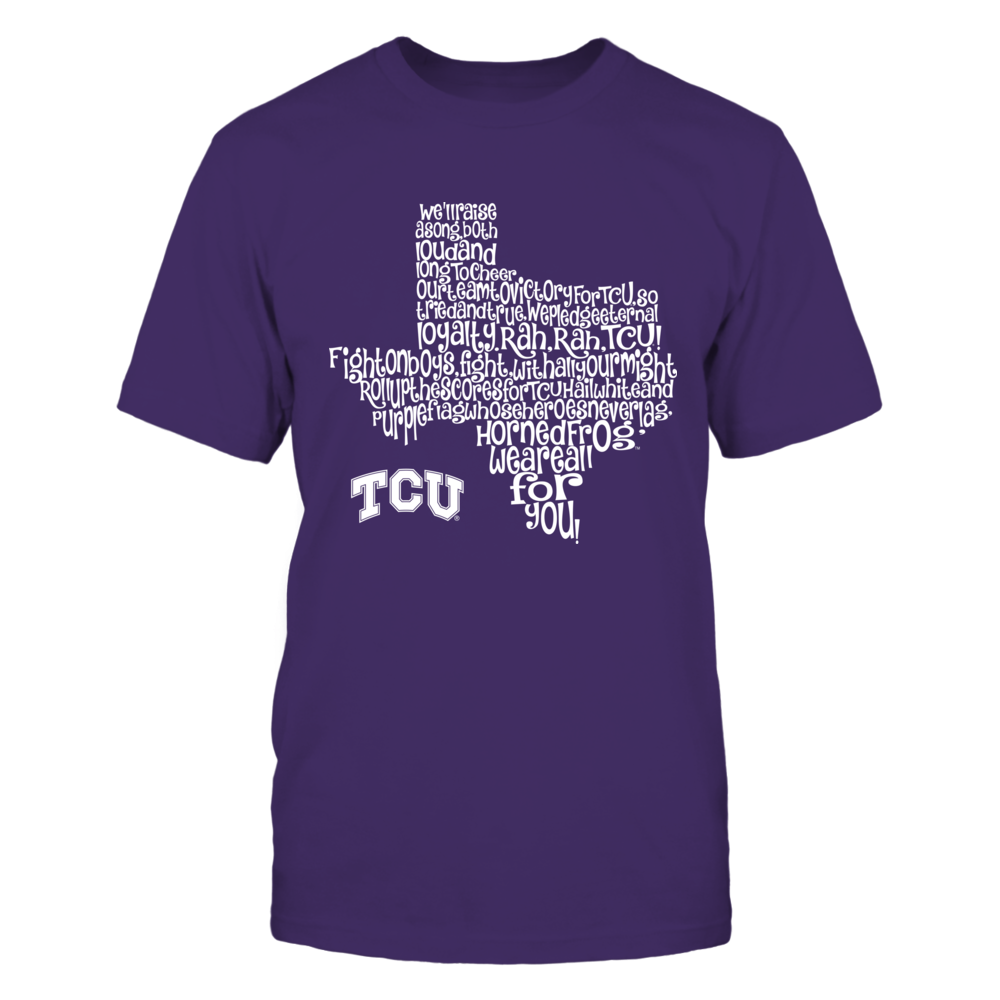TCU Horned Frogs - Fight Song Inside State Map Front picture