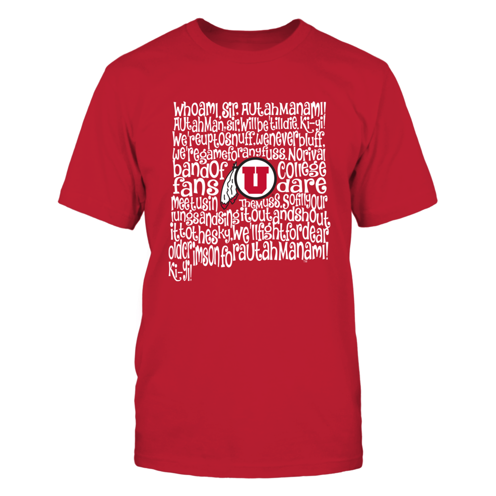 Utah Utes - Fight Song Inside State Map Front picture