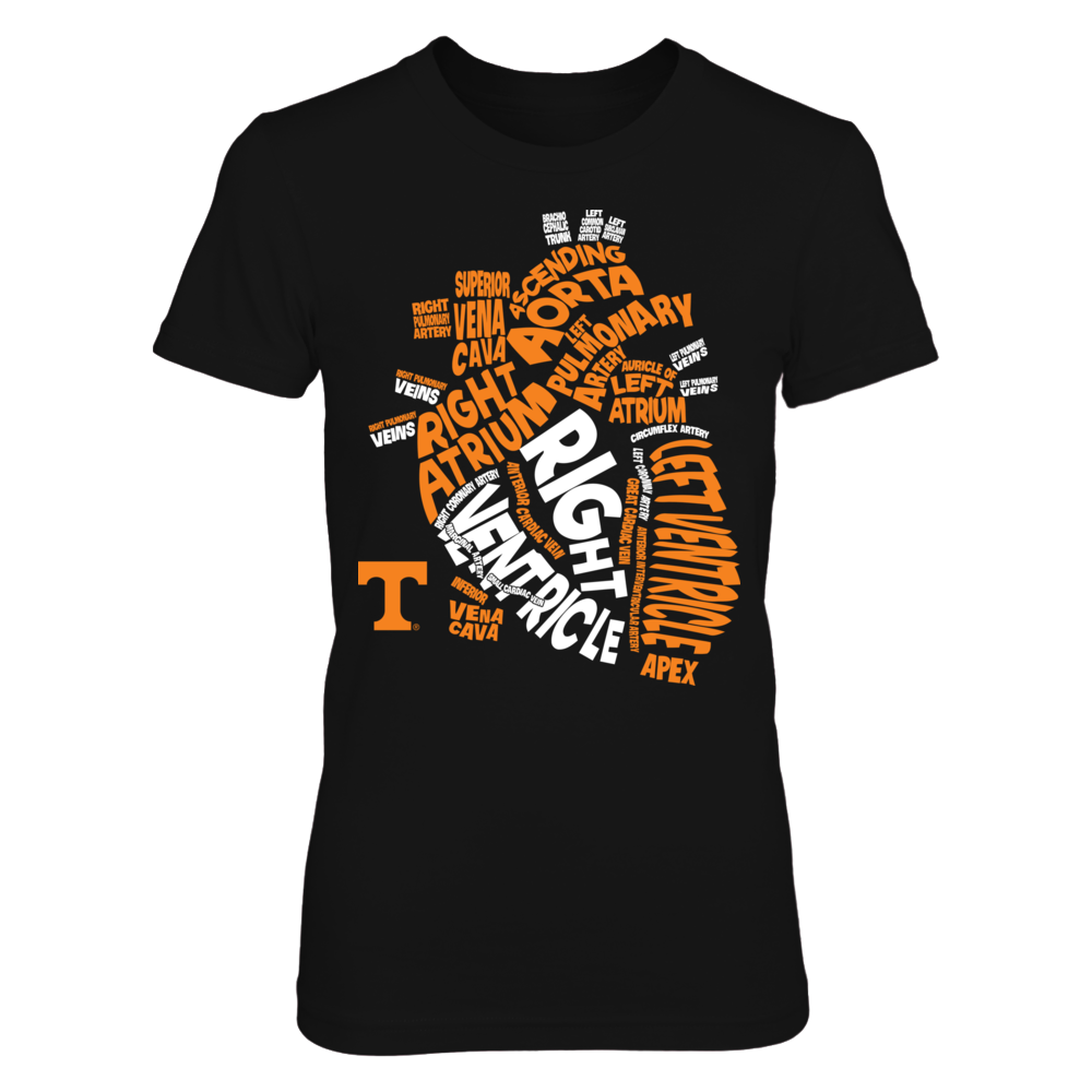 Tennessee Volunteers - Anatomical Heart - Nurse Front picture