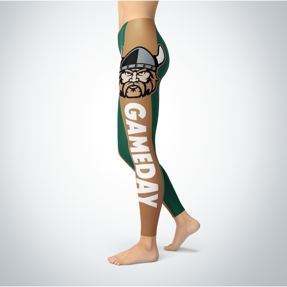 Game Day Leggings - Cleveland State Vikings Back picture