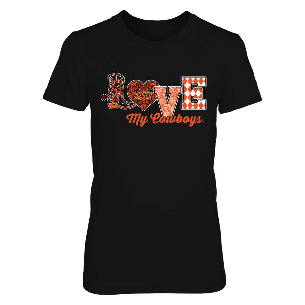 Oklahoma State Cowboys - Love My Team - Lace Heart - IF-IC13-DS33 Front picture