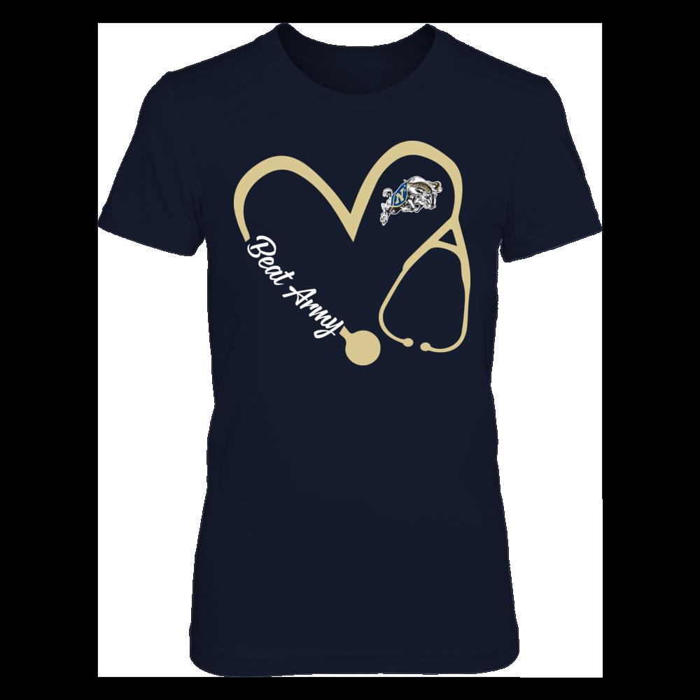 Navy Midshipmen - Heart 3/4 - Nurse Front picture