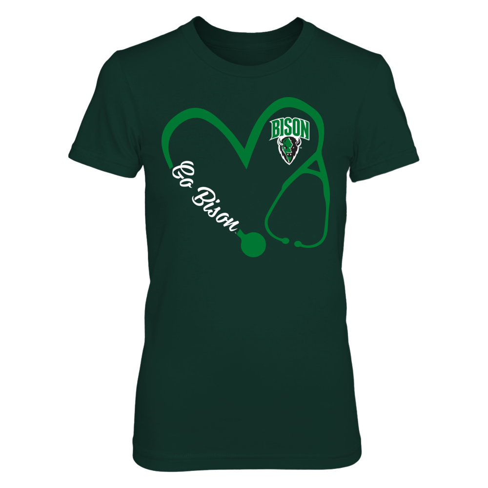 Oklahoma Baptist Bison - Heart 3/4 - Nurse Front picture