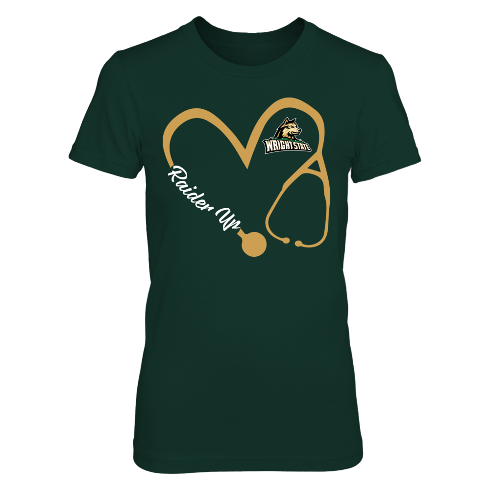 Wright State Raiders - Heart 3/4 - Nurse Front picture