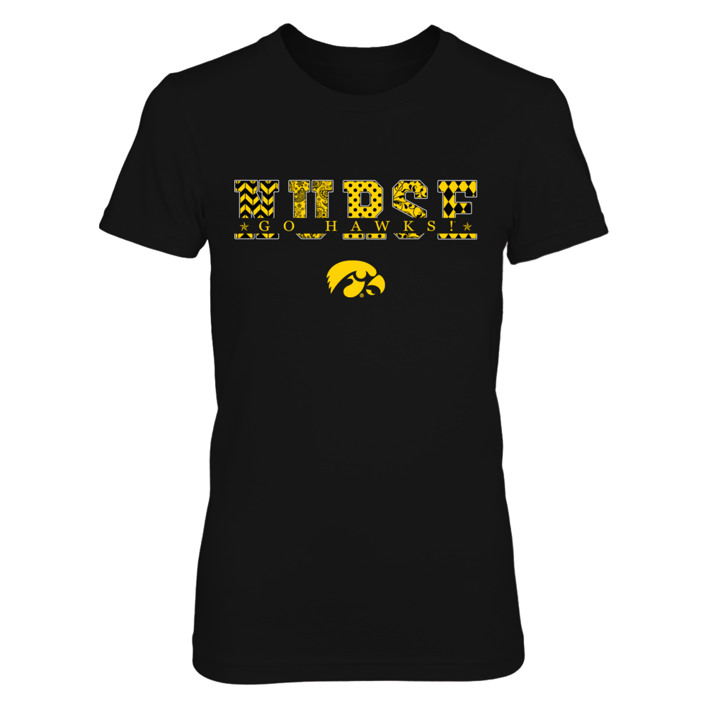 Iowa Hawkeyes - Nurse Patterned Letter Front picture