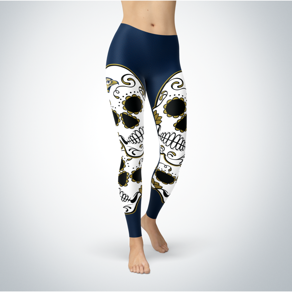 Sugar Skull Leggings - Oral Roberts Golden Eagles Front picture