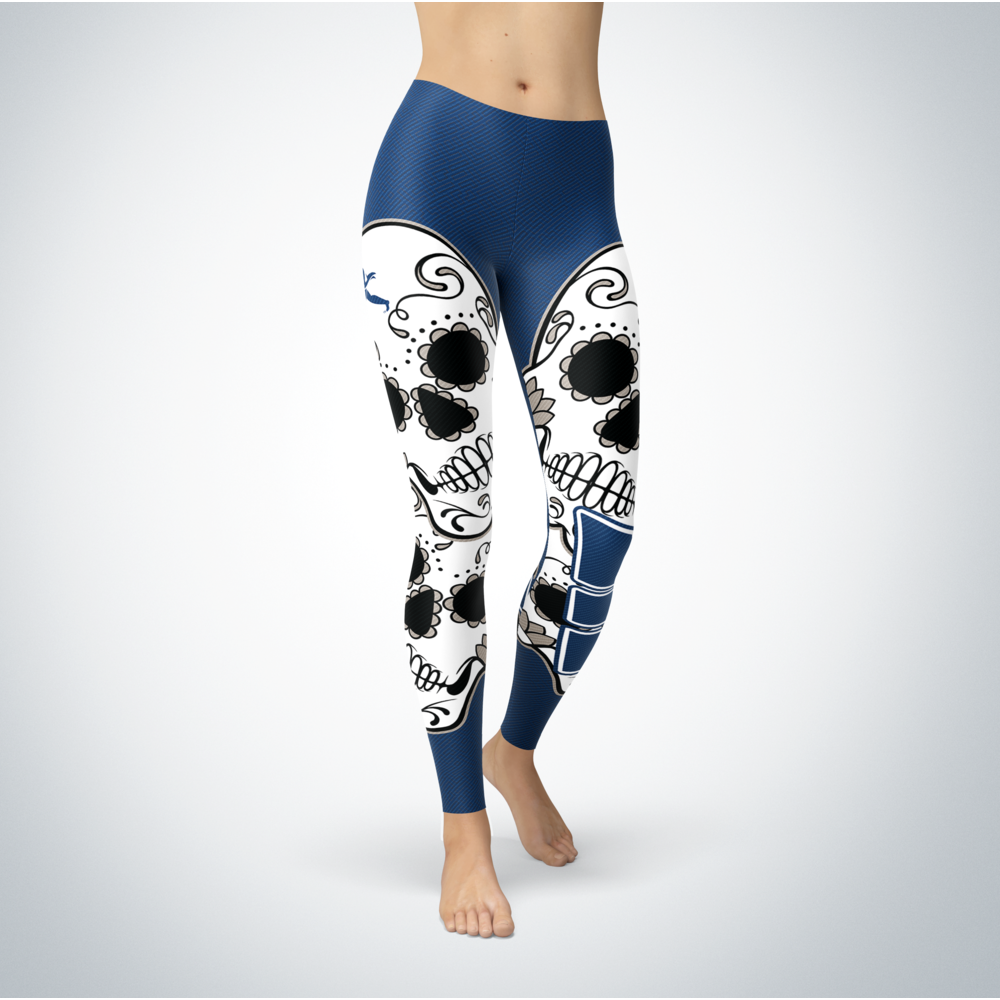Sugar Skull Leggings - Washburn Ichabods Front picture