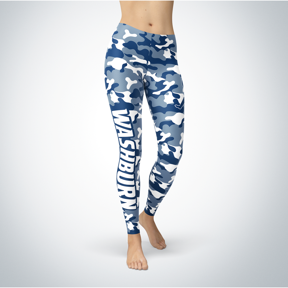 Camo Leggings - Washburn Ichabods Front picture