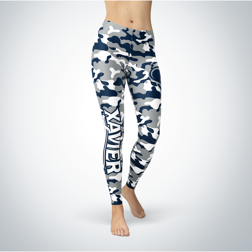 Camo Leggings - Xavier Musketeers Front picture