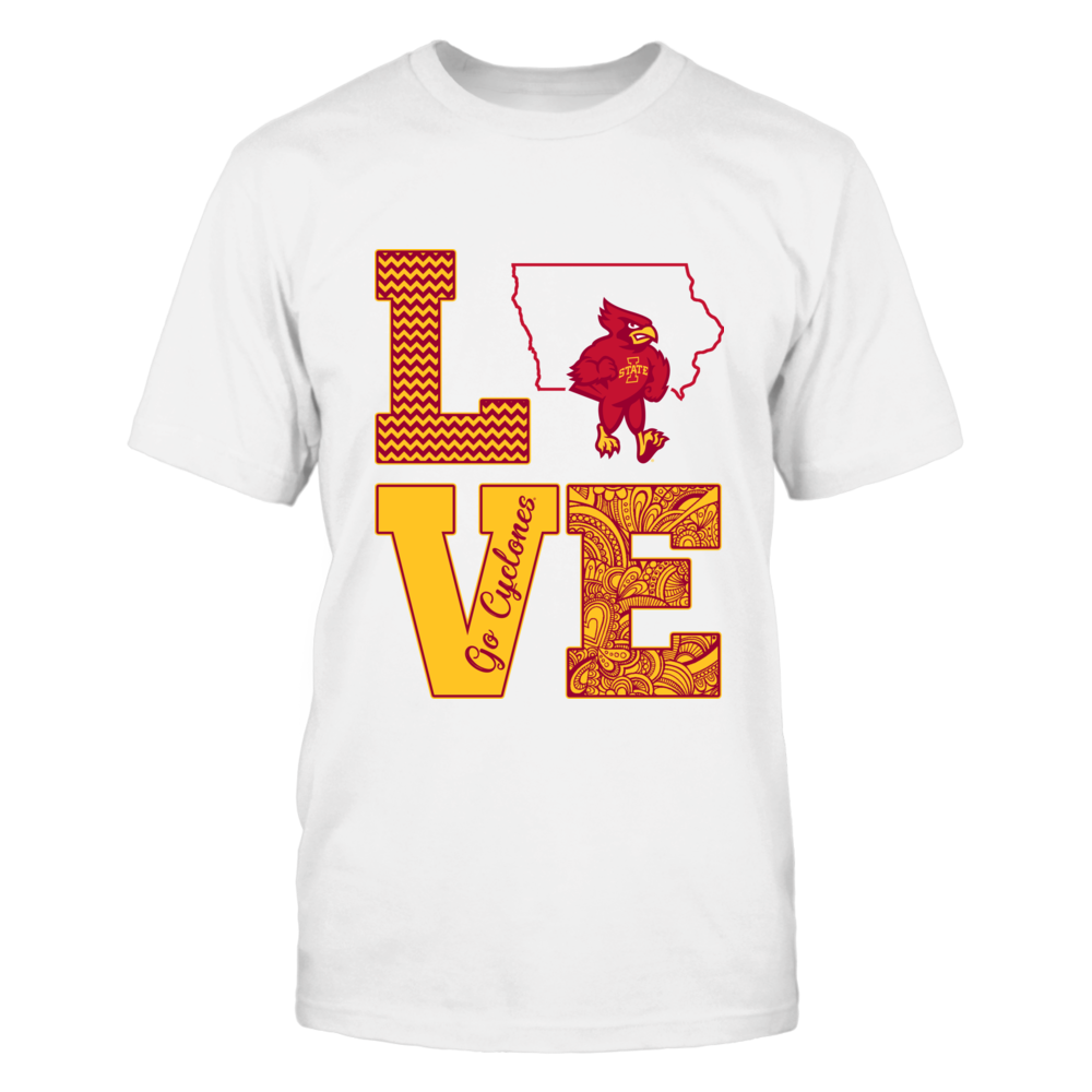 Iowa State Cyclones - Love State Mascot Front picture