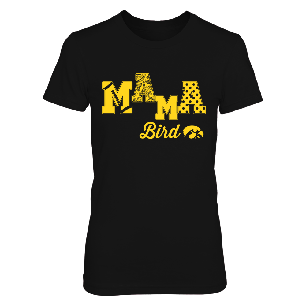 Iowa Hawkeyes - Mama Bird - Football Pattern Front picture