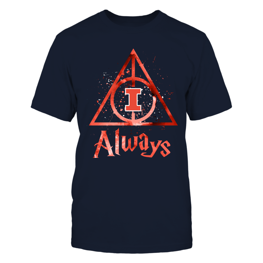 Illinois Fighting Illini - Color Drop Deathly Hallows Front picture