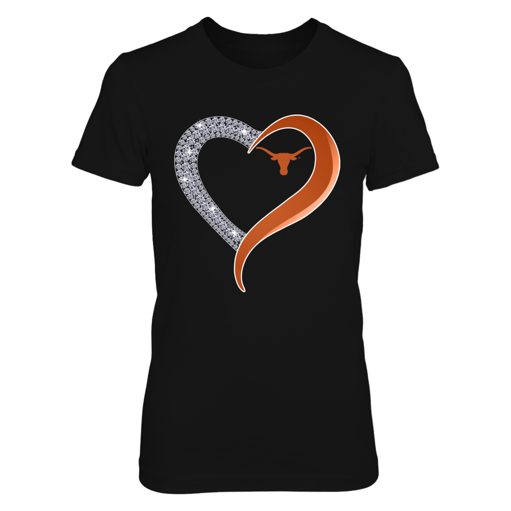 Texas Longhorns - Diamond Heart Front picture