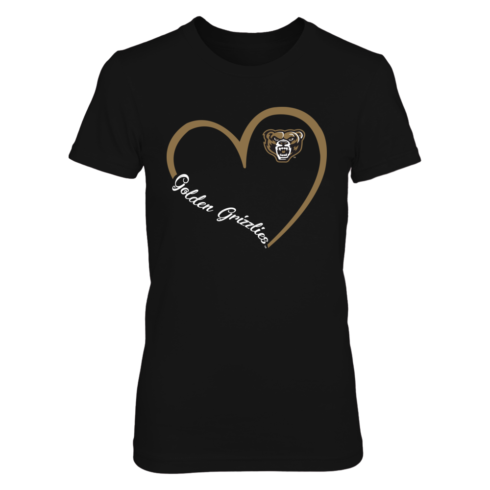 Oakland Golden Grizzlies - Heart 3/4 Front picture