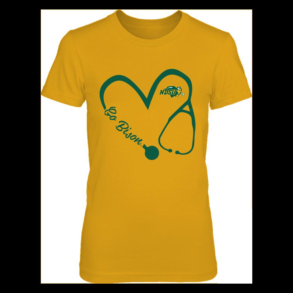 North Dakota State Bison - Heart 3-4 - Nurse - Yellow Shirt Front picture