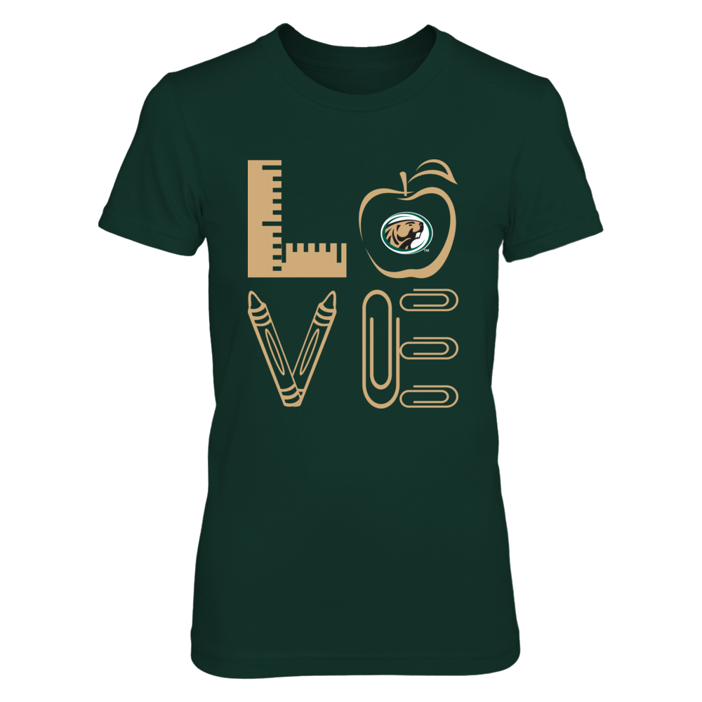 Bemidji State Beavers - Stacked Love - Teacher Things - IF-IC13-DS33 Front picture