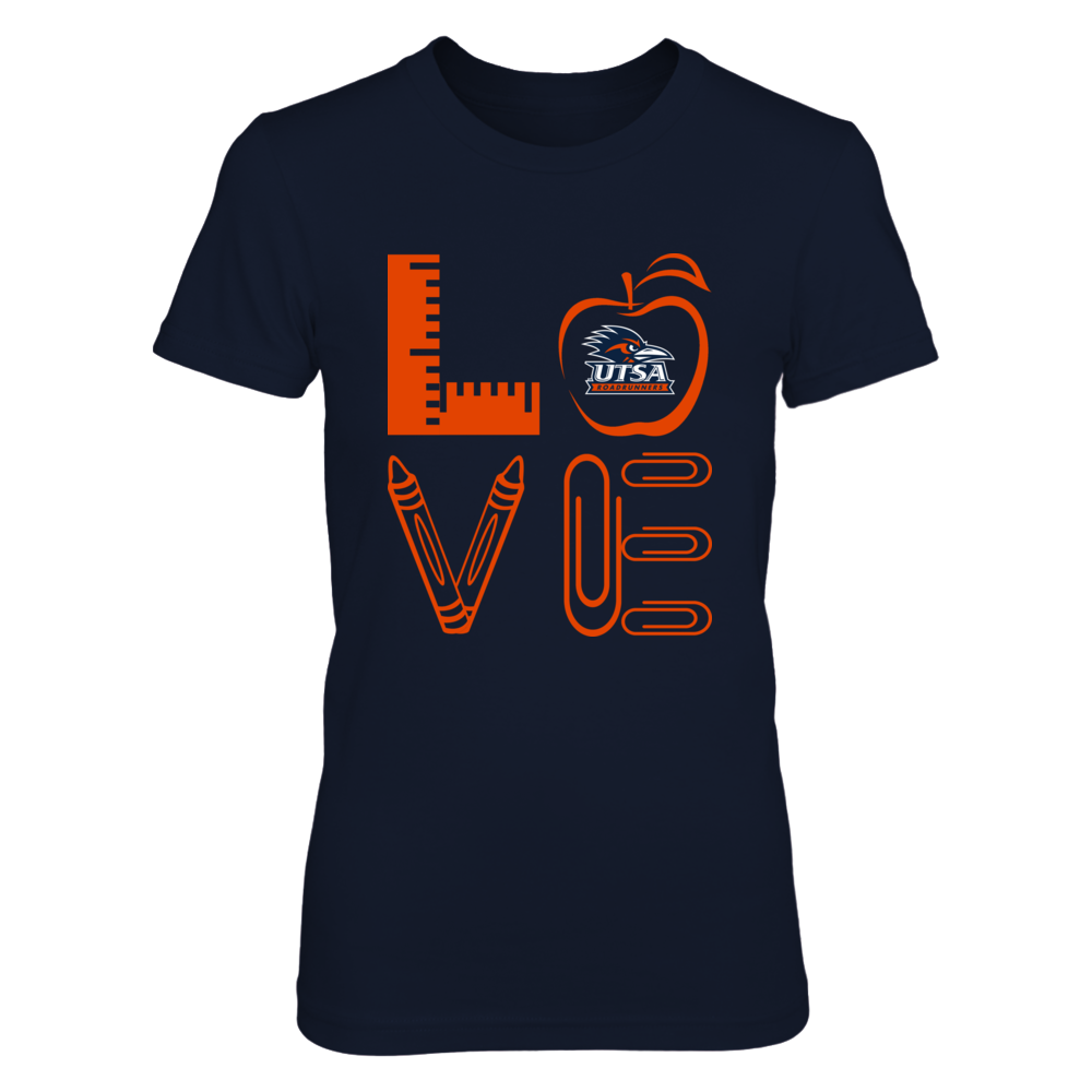 UTSA Roadrunners - Stacked Love - Teacher Things - IF-IC13-DS37 Front picture