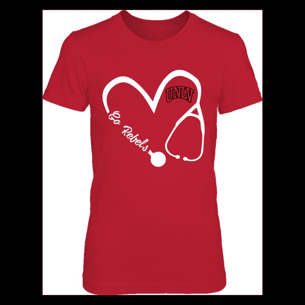 UNLV Rebels - Heart 3/4 - Nurse Front picture