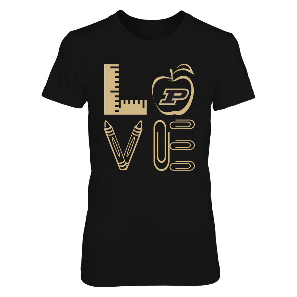 Purdue Boilermakers - Stacked Love - Teacher Things - Relaunch - IF-IC13-DS33 Front picture
