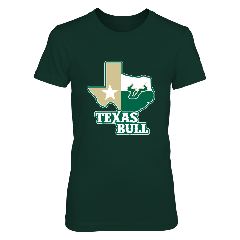 South Florida Bulls - Texas Map Mascot Front picture