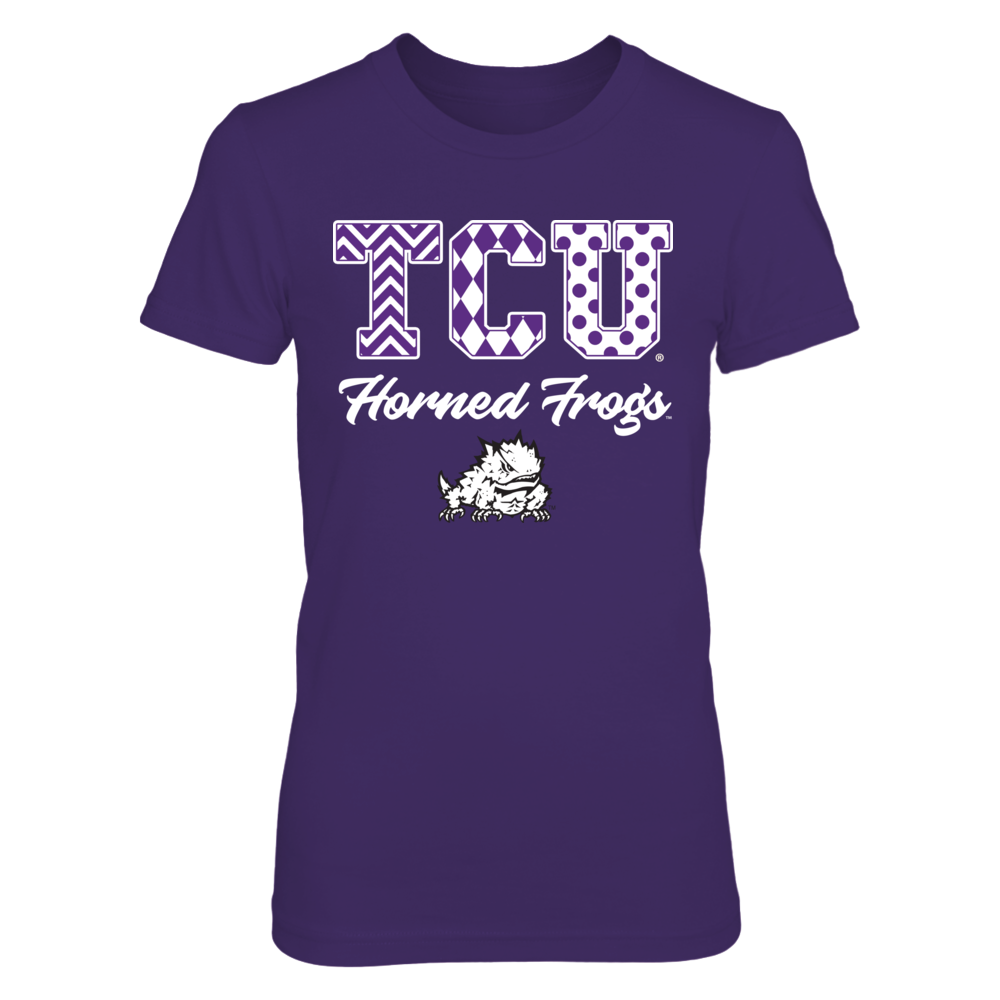 TCU Horned Frogs - Patterned Letters Front picture
