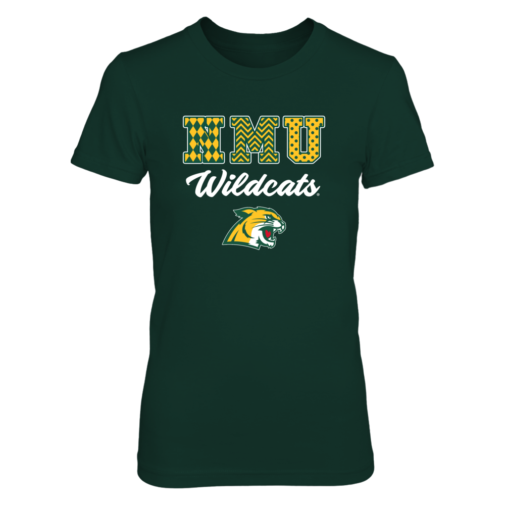 Northern Michigan Wildcats - Patterned Letters Front picture