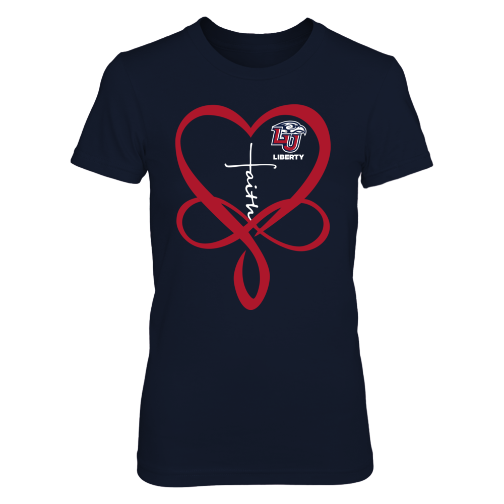 Liberty Flames - Cross Christian Infinity Heart Front picture