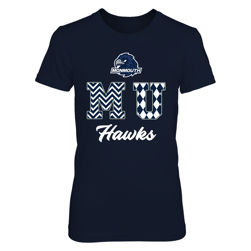 Monmouth Hawks - Patterned Letters Front picture