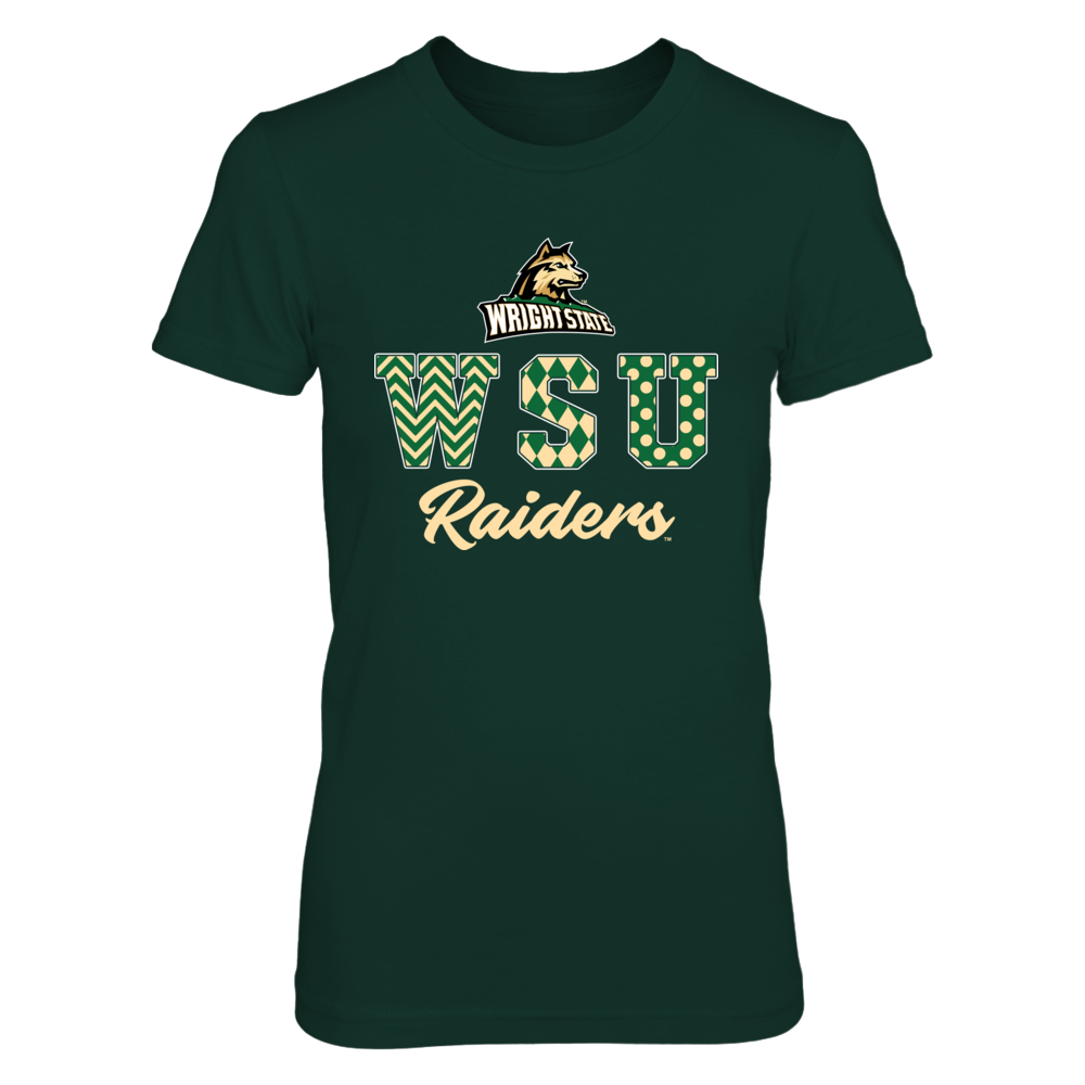 Wright State Raiders - Patterned Letters - IF-IC13-DS45 Front picture