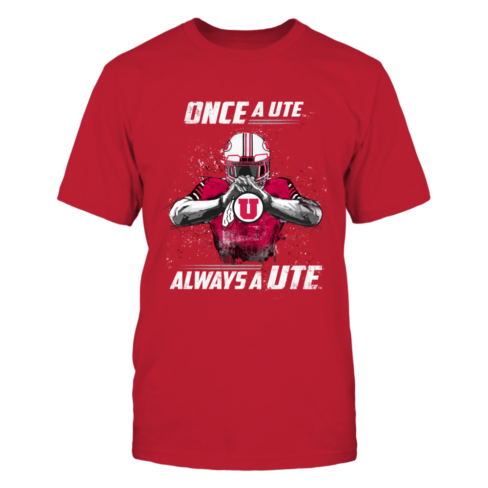 Utah Utes - Once A Ute - Red Shirt Front picture