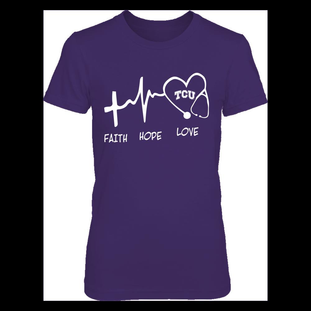TCU Horned Frogs - Faith Hop Love - Nurse Front picture