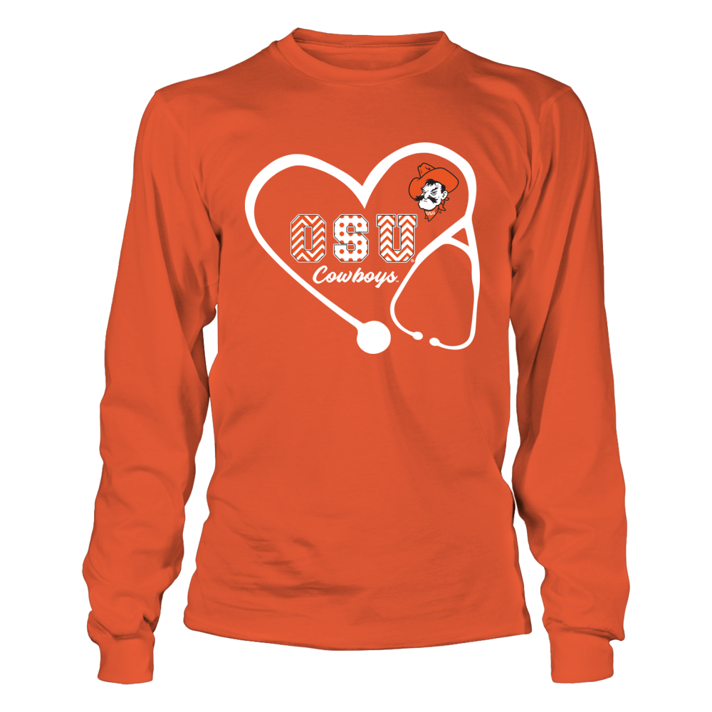 Oklahoma State Cowboys - Stethoscope - Patterned Letters Front picture