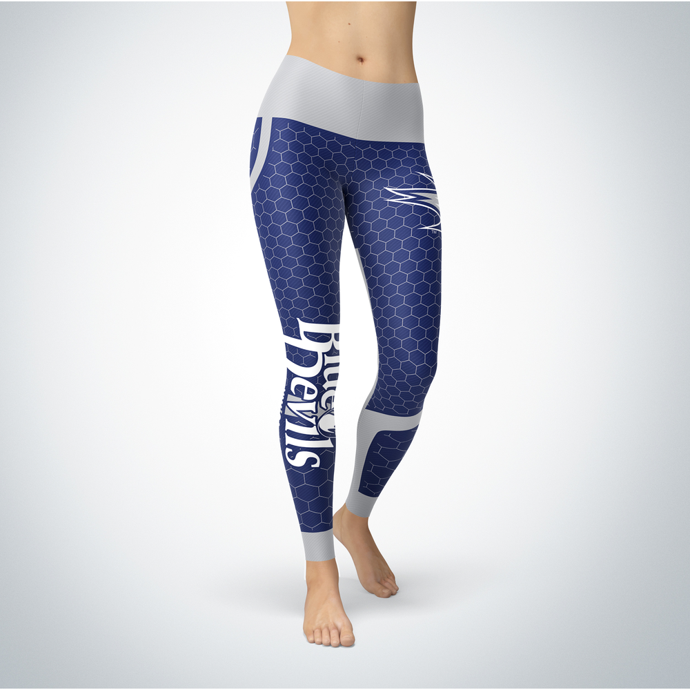 Sporty Design - Wisconsin Stout Blue Devils Leggings Front picture