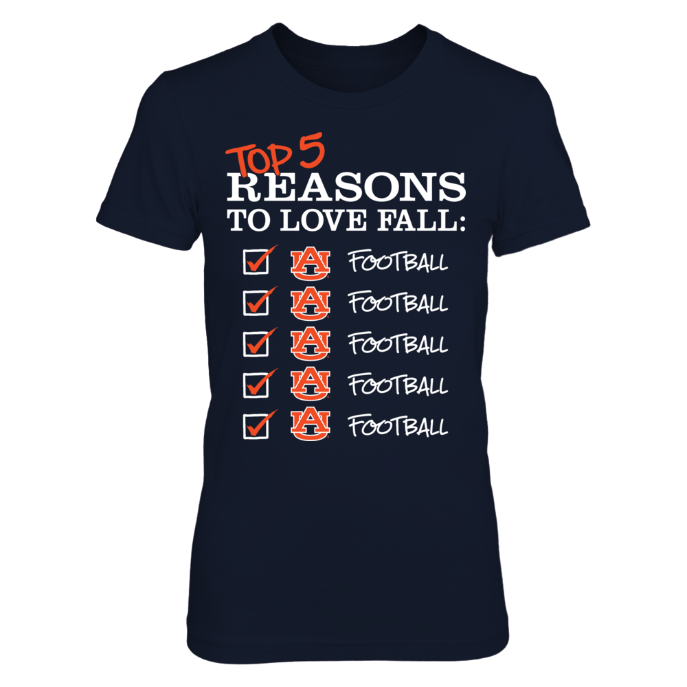 Top 5 Reasons to Love Fall Auburn Tigers T-Shirt | Tank Front picture