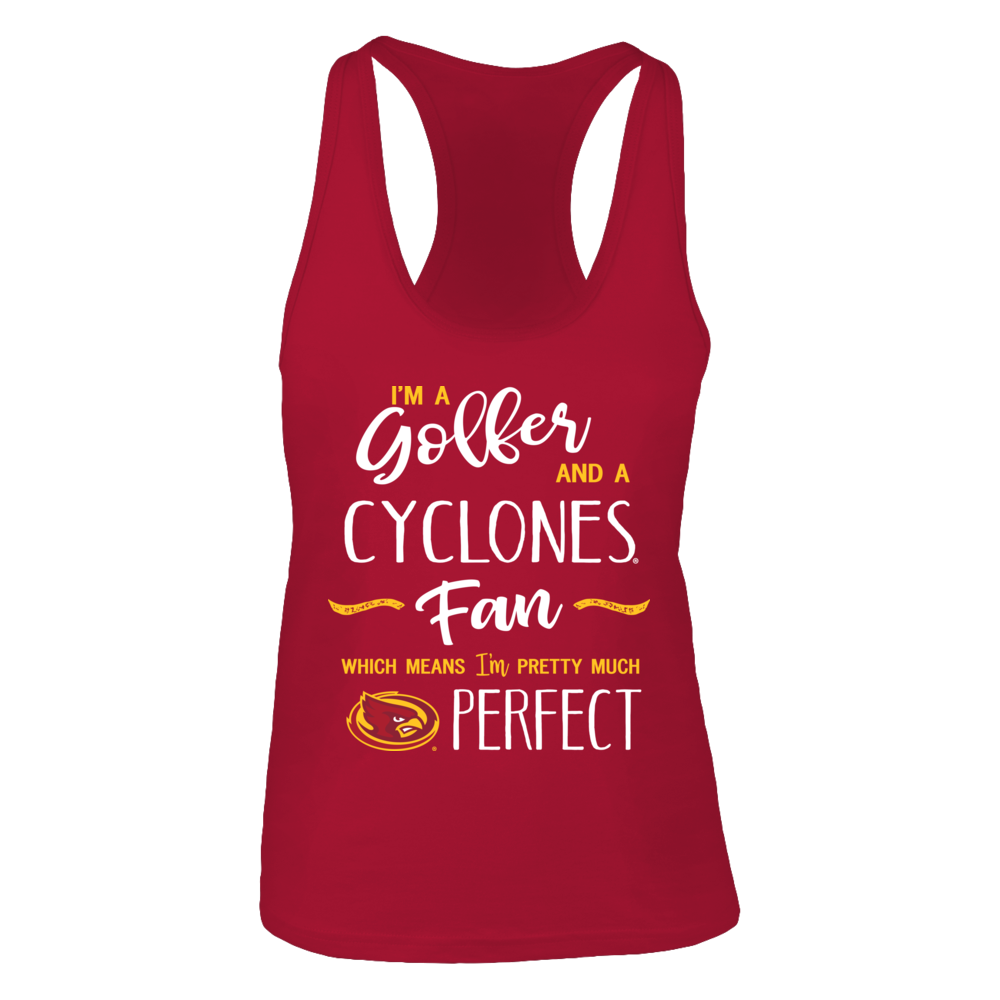 Perfect Golfer Iowa State Cyclones Fan T-Shirt | Tank Front picture