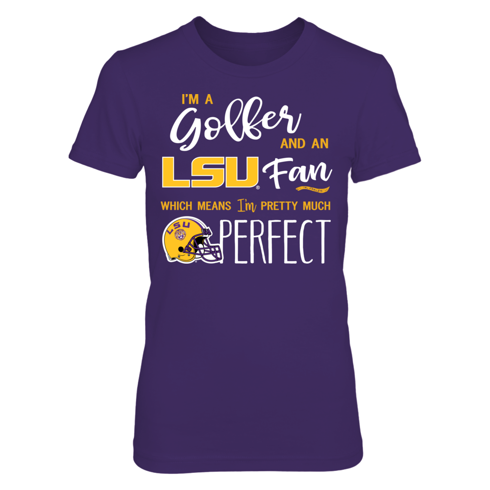 Perfect Golfer LSU Tigers Fan T-Shirt | Tank Front picture