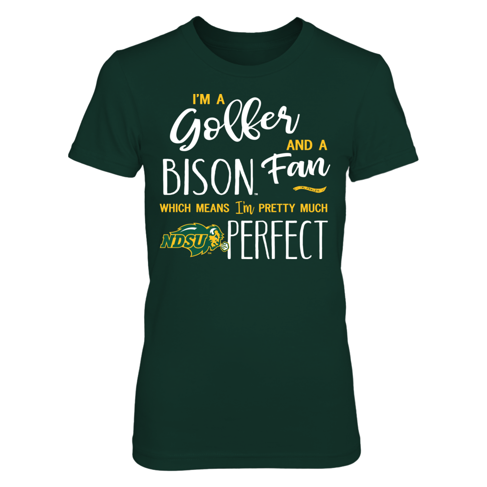 Perfect Golfer North Dakota State Bison Fan T-Shirt | Tank Front picture