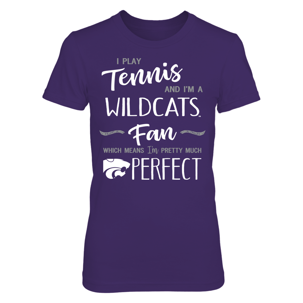 Perfect Tennis Player Kansas State Wildcats Fan T-Shirt   Tank Front picture