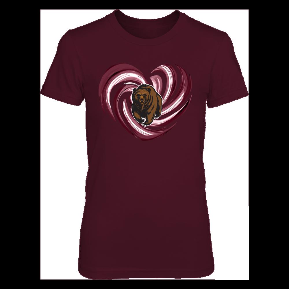 Montana Grizzlies - Hurricane Heart - Team Color Shirt Front picture